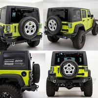 Rock Crawler FULL WIDTH Rear Bumper+Solid Plate for 07-18 Jeep JK Wrangler