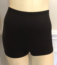 Flexees Vintage Black Boy Short Panty Girdle Nylon/ Spandex Wn Sz M/6