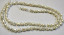 FRESHWATER PEARLS 16IN STRAND NATURAL GEMSTONES APPROX 4X6MM EACH PEARL NF