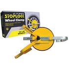 "Wheel Clamp Full-Face 13""-15"" Diameter Yellow Robust Vandal-Resistant Steel Feat"