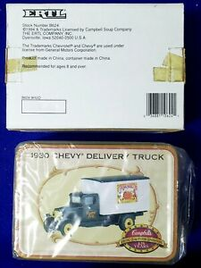 ERTL CAMPBELL'S 1930 CHEVY DELIVERY TRUCK 1/43 SCALE DESIGNED COLLECTION TIN