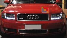 FARI ANTERIORI LED DIURNE DRL PER AUDI A4 B6 8E 2000-2004 FANALI CROMATI