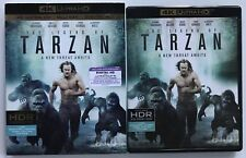 THE LEGEND OF TARZAN 4K ULTRA HD BLU RAY 2 DISC SET + SLIPCOVER SLEEVE FREE SHIP