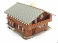 Berghaus Alpenhaus aus Holz BELEUCHTET Spur N C862