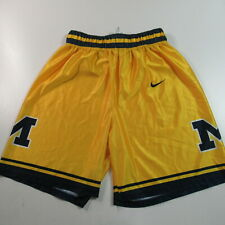 VINTAGE Nike Michigan Wolverines Basketball Shorts Fab 5 Yellow NCAA MENS LARGE
