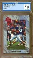 Brett Favre Rookie Card 1991 Classic Draft #129 AGS 10