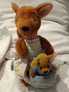 Vintage Kanga & Roo Disney Stuffed Plush set Winnie the Pooh