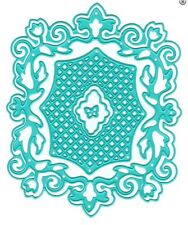 Nellie's Choice Intricate Cutting Die(s) ~ VINTASIA SQUARE WITH GRID  ~ VIND009