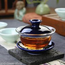 newly listed porcelain tea set gaiwan tureen lid bowl saucer Borosilicate glass