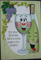 HANDMADE 3-D  BIRTHDAY GREETING CARD  WITH A SENTIMENT  CHEERS BIRTHDAY CARD
