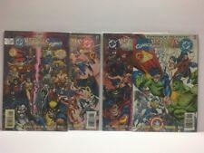 1996 DC VERSUS MARVEL #1-4 (VF/NM) Complete mini series - batman x-men superman