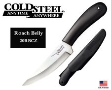 """Cold Steel 4.5"""" Fixed Blade Knife Roach Belly 4116 Stainless Sheath 20RBCZ"""