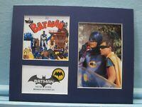 Adam West & Burt Ward as Batman and Robin and Cut Sqaure of   Batman stamp