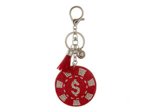 Tassel Bling Faux Suede Stuffed Pillow Key Chain Handbag Charm (Collection 3)