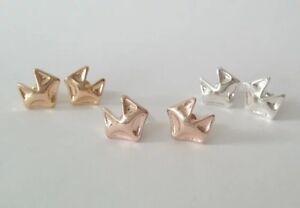Fox Earrings Foxy lady stud earrings Silver Gold Rose Gold Fab gift FREE POSTAGE