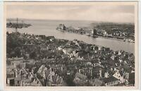 Ansichtskarte Flensburg - Übersicht/Ortsansicht/Ortspanorama - schwarz/weiß