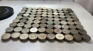 100 pcs Mexico 1957~67 silver 10% peso Morelos xf~au investment lot BU0509