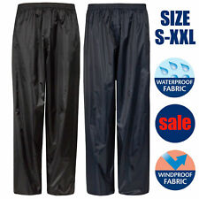 Mens Waterproof Over Work Golf Trousers Womens Waterproof Pants Lightweight Rain