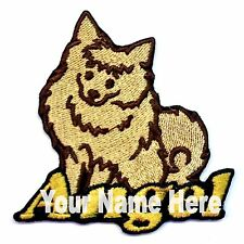 Pomeranian Dog Custom Iron-on Patch With Name Personalized Free