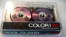 One REEL CLEER, reel to reel blank audio cassette tape, brand new, violet color?