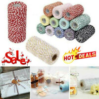 1 Roll Cotton Bakers Twine String DIY Cord Gift Box Decor Craft Rope 100m