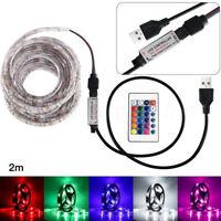 50-200cm USB Tira de luces LED Tv Parte Trasera Lámpara 5050rgb cambia color +