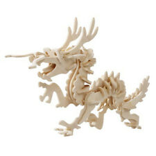 3D Snake Model Puzzle Wooden Animal Jigsaw Children DIY Toy Educational