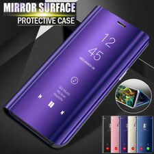 For Xiaomi 6 A1/5X Redmi 5 Plus Clear View Case Flip Leather Mirror Stand Cover