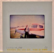 "Vintage Kodachrome 35mm Color Slides ""Man & His Plane"" 1968"