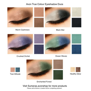 Avon True Colour Eyeshadow Duo~ Pick From 7 shades ~ New ~Free P&P ~ Great Gift!