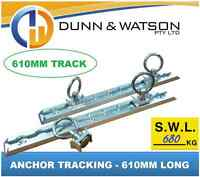 610mm Anchor Track 680kg (2x Track / 4x Rings) Tie Down, Trailer, Caravan, Float