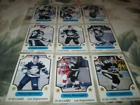 1991-1992 7 TH INNING SKETCH LHJMQ  CHICOUTIMI SAGUEENS  COMPLETED SET  +PROMO