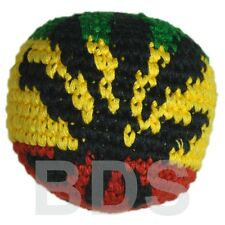 Rasta Leaf Stripes Guatemalan Footbag Rasta  Cotton Hacky Sack New HS18