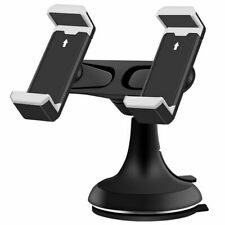 Universal Car Mount Holder, Multi-Purpose Double Bracket Suction Cup Phone Holde
