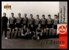 Upper Deck 1.FC Nurnberg 1997 Deutscher Pokalsieger. Team 1962 Alte Zeiten No.29