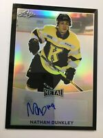 NATHAN DUNKLEY 2016 17 LEAF METAL BLACK PRISMATIC AUTO ROOKIE RC SSP KINGS /7