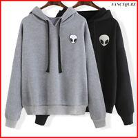 Women's Alien Long Sleeve Hoodie Pullover Sweatshirt Sweater Casual Hooded drrd