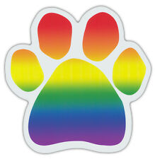 Rainbow Dog Paw Shaped Magnets: SUPPORT GAY RIGHTS, ALLY, FRIENDLY | Dogs, Gifts