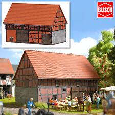 BUSCH 1506 H0 Scheune mit kleinem Stall ++ NEU & OVP ++