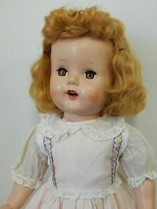 "Vintage Raving Beauty Type 19"" Hard Plastic Walker Doll w/Saran Wig"