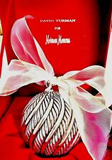 David Yurman Cable Classic Holiday Ornament 925 Sterling Silver 59 x 49mm Vtg.
