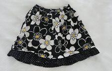 Gymboree BEE CHIC Black/White Flower Print Skirt EUC 12