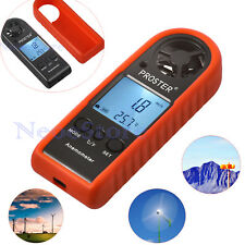 Digital Anemometer LCD Air Wind Speed Meter Tester Thermometer Handheld Gauge US