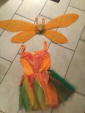 waldfee kostüm Elfe Tinkerbell Neu Gr. 140 Karneval