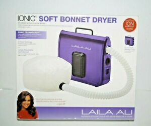 New Laila Ali Ionic Soft Bonnet Hair Dryer Adjustable Portable Case 2 Speed OB
