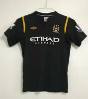 Rare Boys Manchester City away football shirt size 152 Bellamy Umbro 2009-2010
