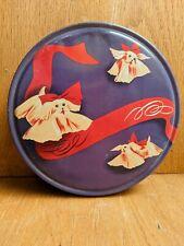 Vintage Shih Tzu Dog Purple Storage Tin, Circa 1940s/1950s