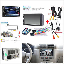 7'' HD Screen Car Bluetooth Radio Audio Stereo MP5 MP3 Player + Rear View Camera