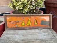 Antique Old Rare Trinity Baby Products  Adv Tin Sign Board Framed