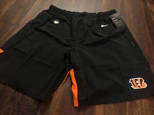 New Nike Mens Cincinnati Bengals Football Shorts Size 2XL Black Orange On Field